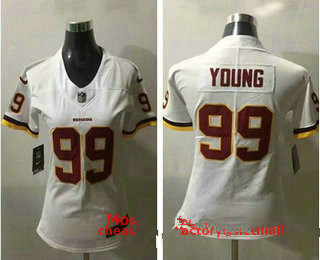 Women's Washington Redskins #99 Chase Young White 2020 NEW Vapor Untouchable Stitched NFL Nike Limited Jersey