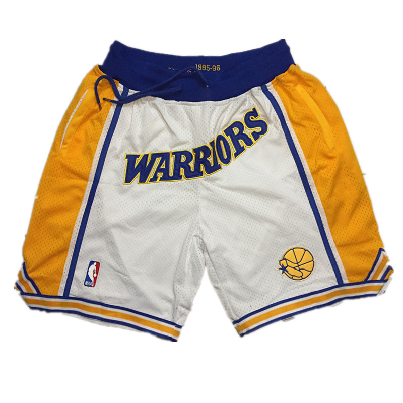 Golden State Warriors 1995-96 White Just Don Shorts Swingman Shorts