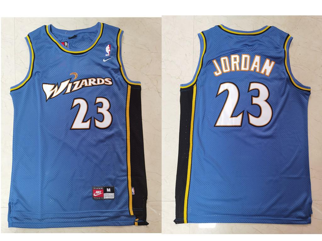 Men's Washington Wizards #23 Michael Jordan Blue Swingman Stitched Basketball Jersey
