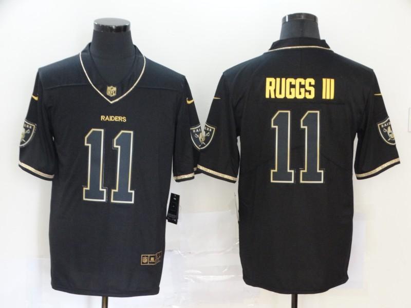 Men's Las Vegas Raiders #11 Henry Ruggs III Black Golden Edition Jersey