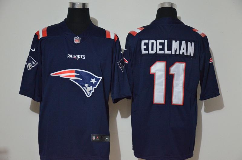 Men's New England Patriots #11 Julian Edelman Navy Blue 2020 Team Logo Vapor Untouchable Stitched NFL Nike Fashion Limited Jersey