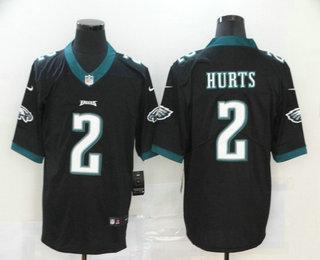 Men's Philadelphia Eagles #2 Jalen Hurts Black 2020 Vapor Untouchable Stitched NFL Nike Limited Jersey