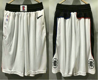 Men's Los Angeles Clippers NEW White Nike 2020 Swingman City Edition Shorts