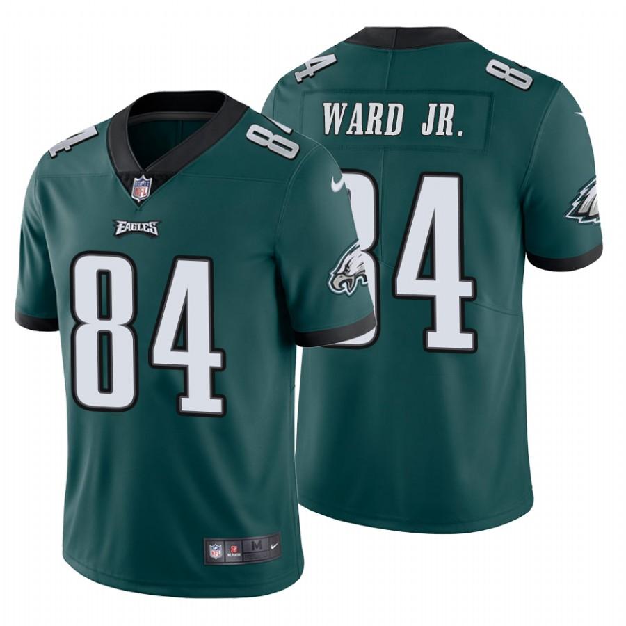 Men's Philadelphia Eagles #84 Greg Ward Jr.Vapor Untouchable Limited Midnight Green Nike Jersey