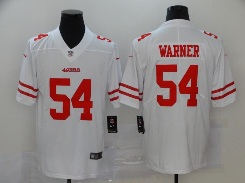 Men's San Francisco 49ers #54 Fred Warner White 2017 Vapor Untouchable Stitched NFL Nike Limited Jersey