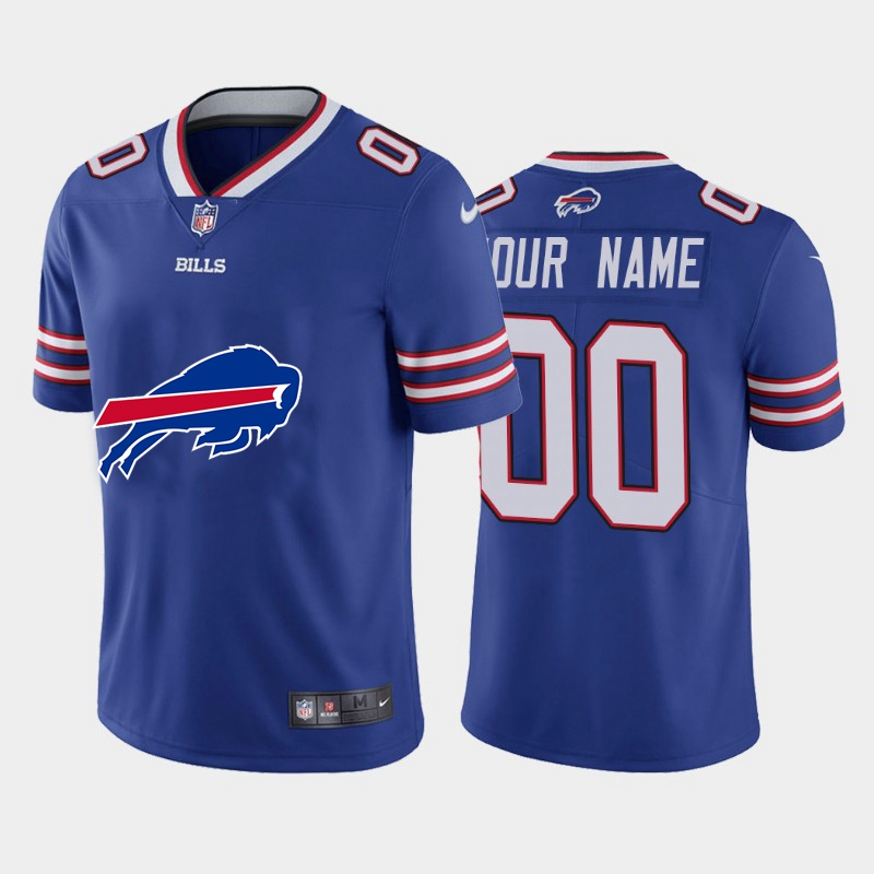 Nike Buffalo Bills Customized Royal Team Big Logo Vapor Untouchable Limited Jersey