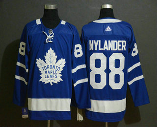 Men's Toronto Maple Leafs #88 William Nylander Royal Blue Adidas Stitched NHL Jersey