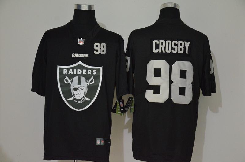 Men's Las Vegas Raiders #98 Maxx Crosby Black 2020 Big Logo Number Vapor Untouchable Stitched NFL Nike Fashion Limited Jersey