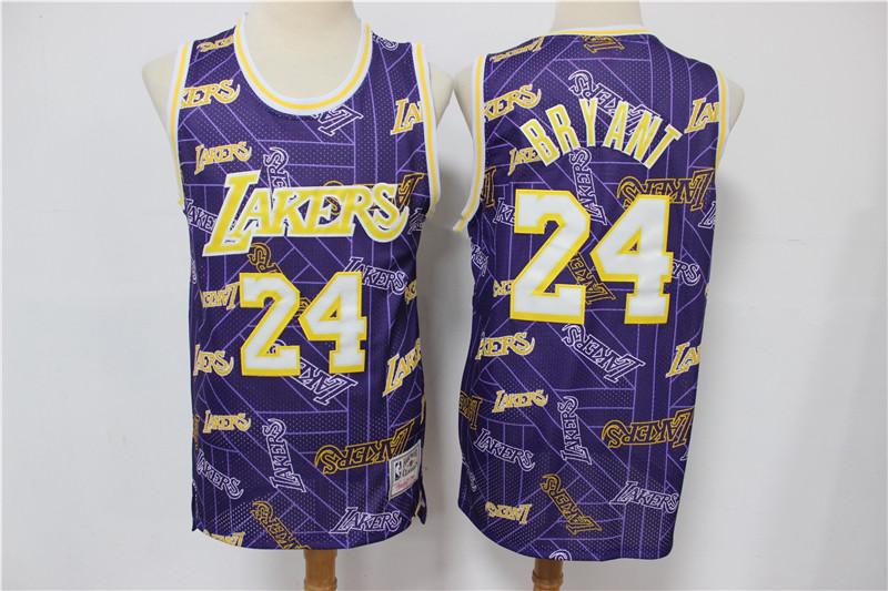 Men's Los Angeles Lakers #24 Kobe Bryant Purple Tear Up Pack ...