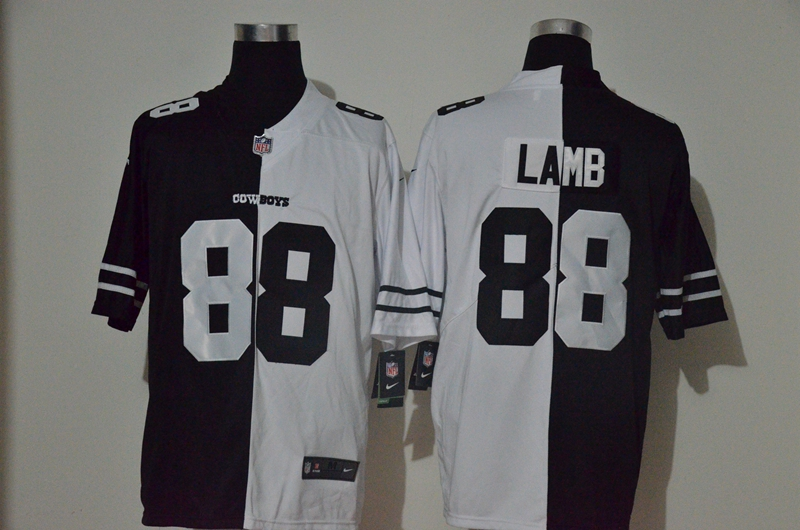 Men's Dallas Cowboys #88 CeeDee Lamb Black White Peaceful Coexisting 2020 Vapor Untouchable Stitched NFL Nike Limited Jersey