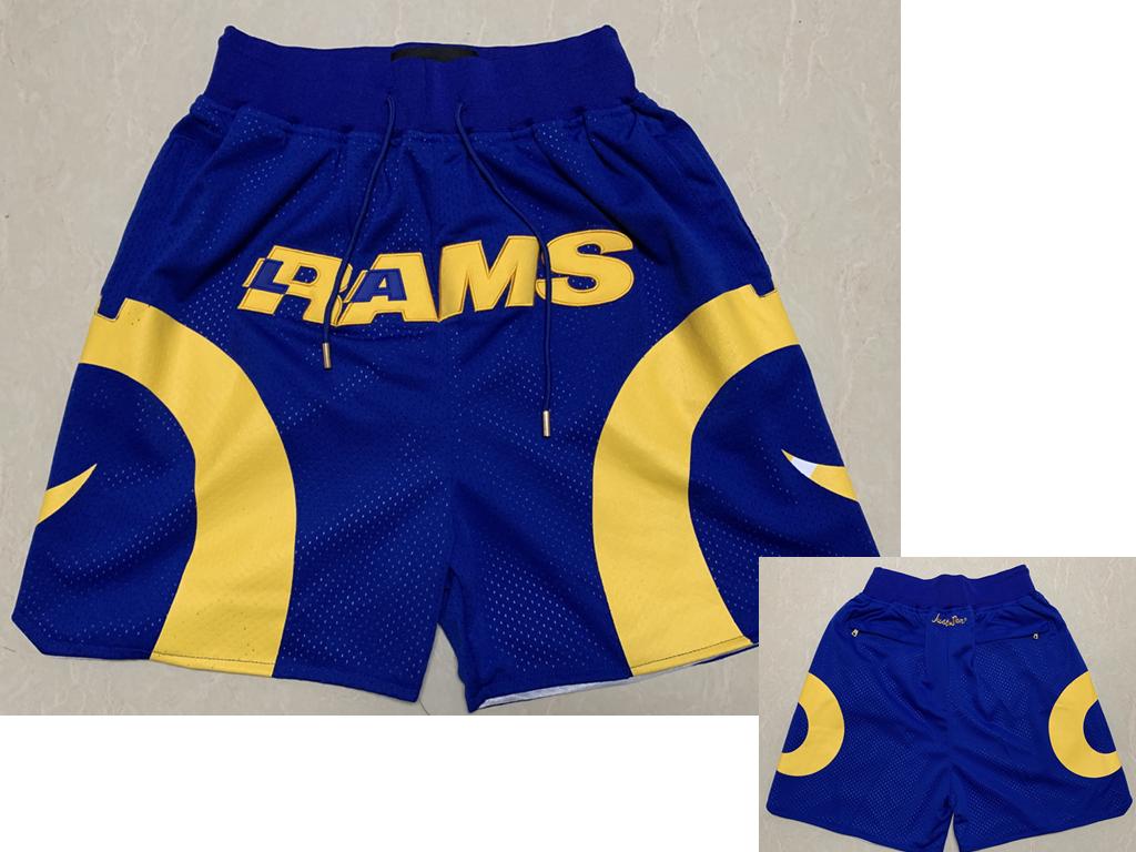 Men's Los Angeles Rams Royal Blue Just Don Shorts