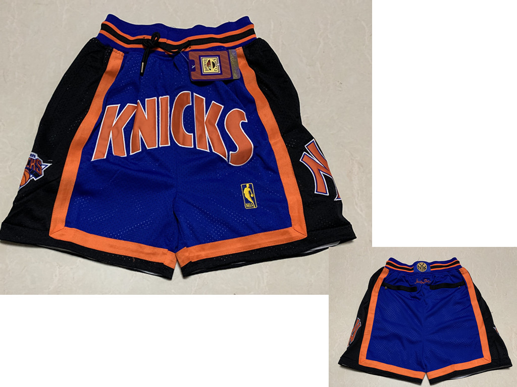 New York Knicks Shorts (Black) JUST DON By Mitchell & Ness