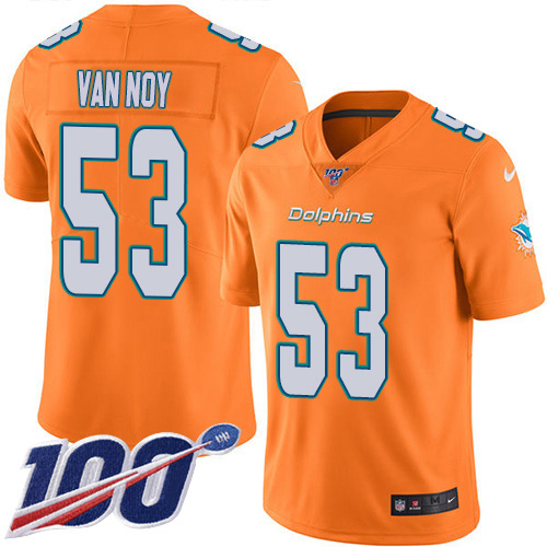 Men's Miami Dolphins #53 Kyle Van Noy Black Stitched Limited 2016 Salute to Service Jersey