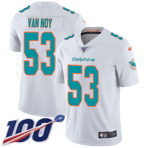 Men's Miami Dolphins #53 Kyle Van Noy Camo Stitched Limited Rush Realtree Jersey