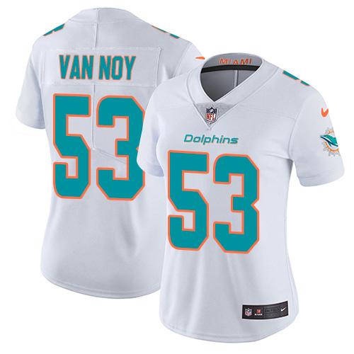 Women's Miami Dolphins #53 Kyle Van Noy White Stitched Vapor Untouchable Limited Jersey