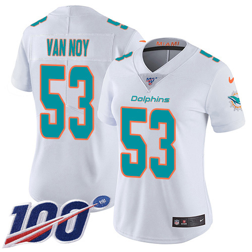 Women's Miami Dolphins #53 Kyle Van Noy Olive Camo Stitched Limited 2017 Salute To Service Jersey