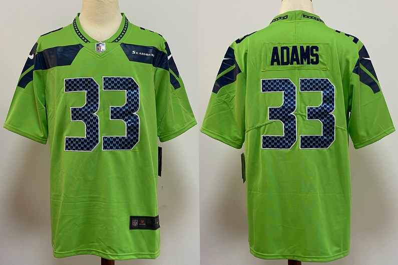 Men's Seattle Seahawks #33 Jamal Adams Green 2020 Vapor Untouchable Stitched NFL Nike Limited Jersey