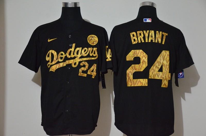 Men's Los Angeles Dodgers #24 Kobe Bryant Black Camo Fashion Stitched MLB Cool Base Nike Jersey