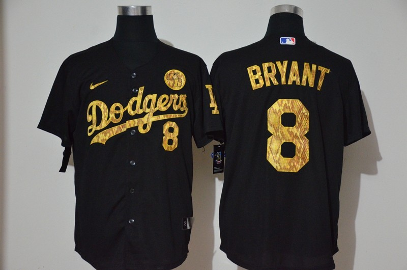 Men's Los Angeles Dodgers #8 Kobe Bryant Black Camo Fashion Stitched MLB Cool Base Nike Jersey