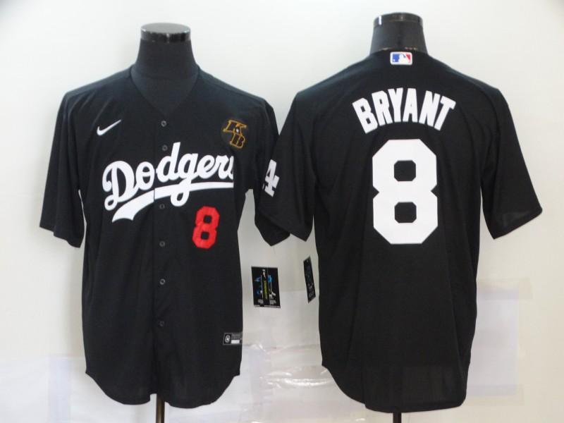 Men's Los Angeles Dodgers #8 Kobe Bryant Black 2020 Nike KB Cool Base Jersey