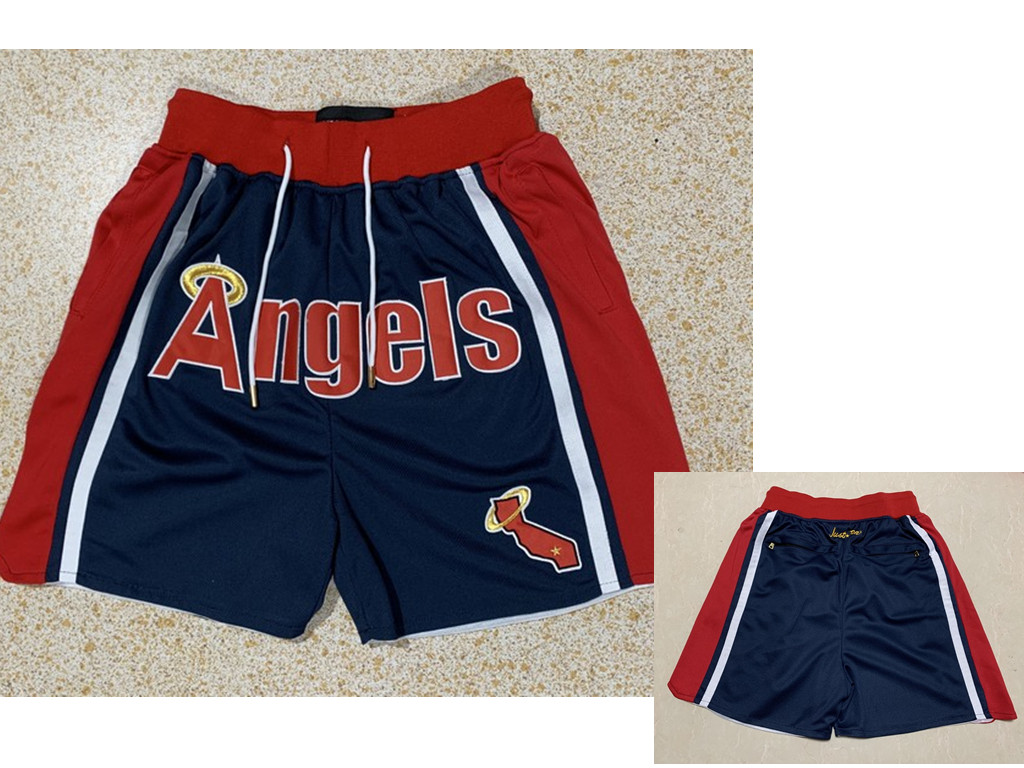 Men's Los Angeles Angels Navy Blue Just Don Shorts Swingman Shorts