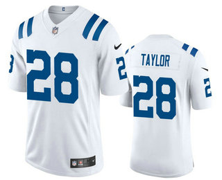 Men's Indianapolis Colts #28 Jonathan Taylor White 2020 Vapor Untouchable Stitched NFL Nike Limited Jersey