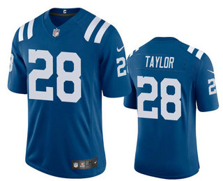 Men's Indianapolis Colts #28 Jonathan Taylor Royal Blue 2020 Vapor Untouchable Stitched NFL Nike Limited Jersey