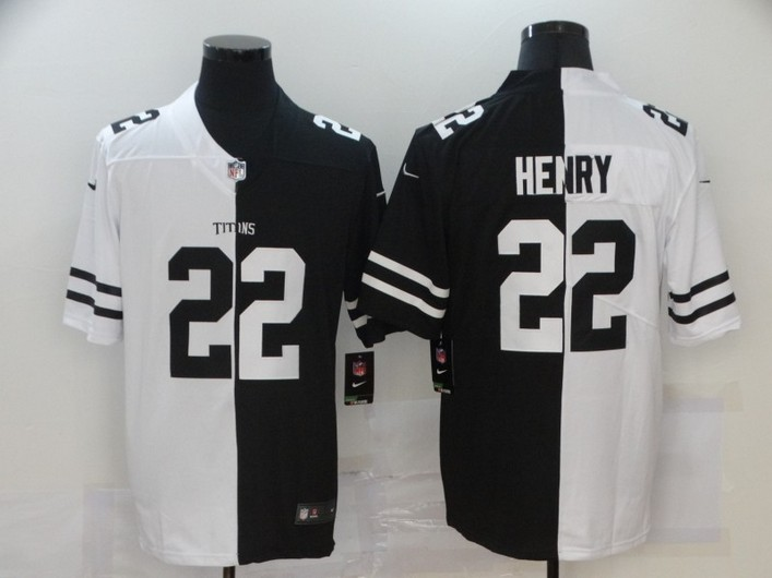 Men's Tennessee Titans #22 Derrick Henry White Black Peaceful Coexisting 2020 Vapor Untouchable Stitched NFL Nike Limited Jersey