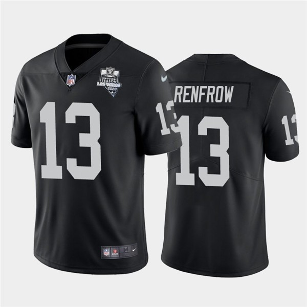 Nike Las Vegas Raiders 13 Hunter Renfrow Black 2020 Inaugural Season Vapor Untouchable Limited Jersey