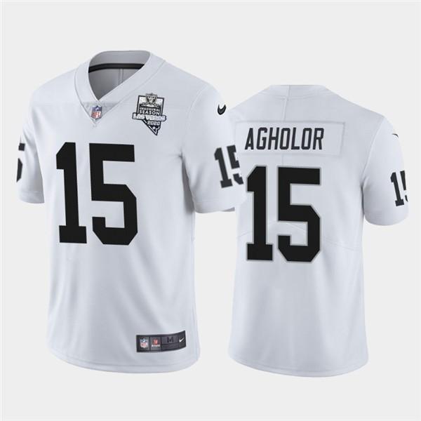 Nike Las Vegas Raiders 15 Nelson Agholor White 2020 Inaugural Season Vapor Untouchable Limited Jersey