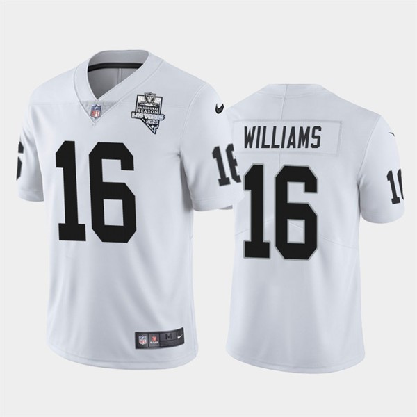 Nike Las Vegas Raiders 16 Tyrell Williams White 2020 Inaugural Season Vapor Untouchable Limited Jersey