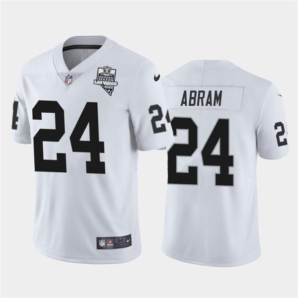 Nike Las Vegas Raiders 24 Johnathan Abram White 2020 Inaugural Season Vapor Untouchable Limited Jersey