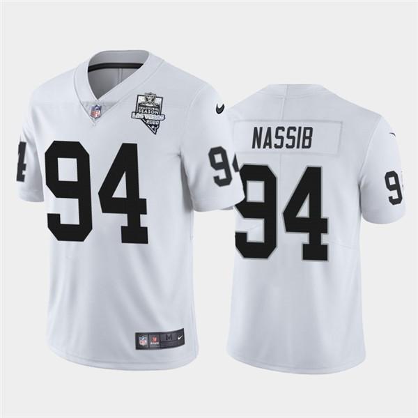 Nike Las Vegas Raiders 94 Carl Nassib White 2020 Inaugural Season Vapor Untouchable Limited Jersey