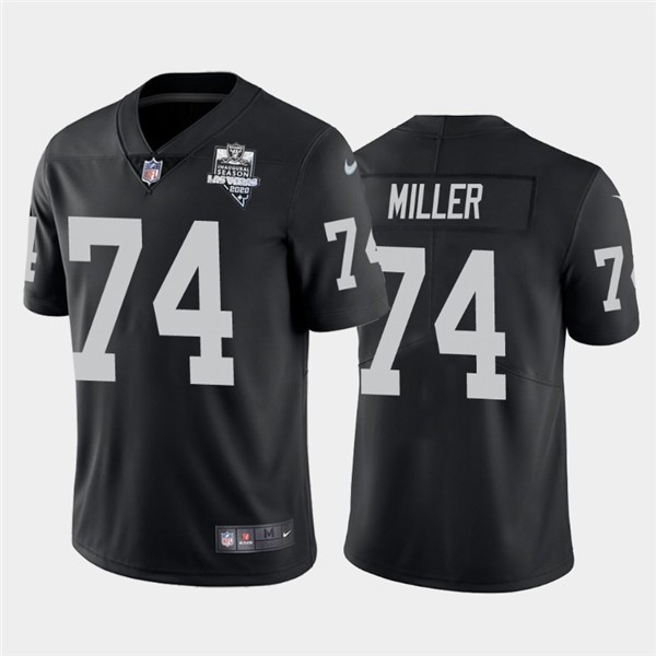Nike Las Vegas Raiders 74 Kolton Miller Black 2020 Inaugural Season Vapor Untouchable Limited Jersey