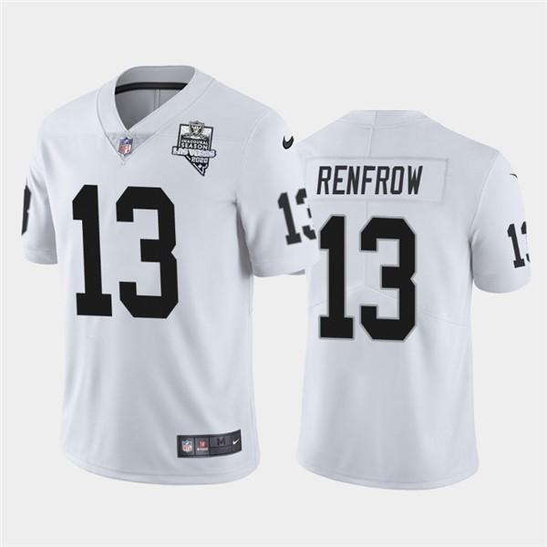 Nike Las Vegas Raiders 13 Hunter Renfrow White 2020 Inaugural Season Vapor Untouchable Limited Jersey