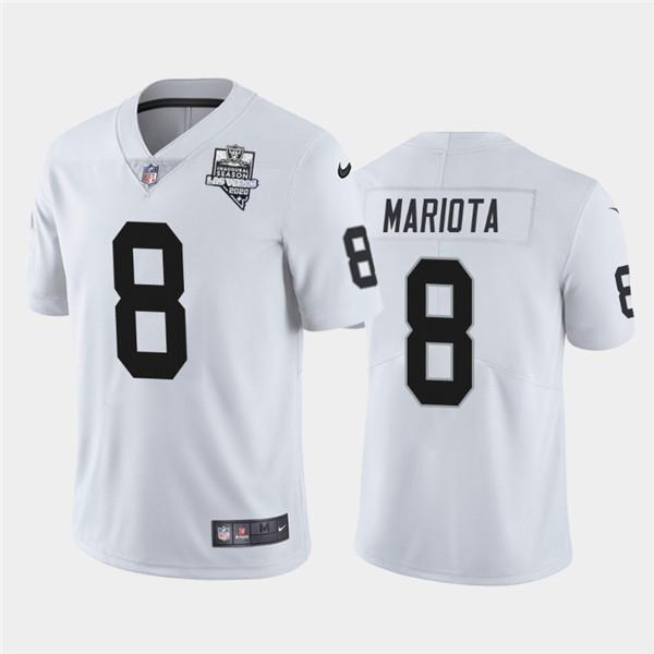 Nike Las Vegas Raiders 8 Marcus Mariota White 2020 Inaugural Season Vapor Untouchable Limited Jersey