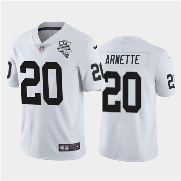 Nike Las Vegas Raiders 20 Damon Arnette White 2020 Inaugural Season Vapor Untouchable Limited Jersey