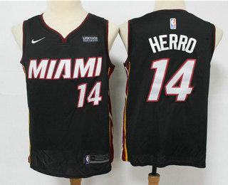 Men's Miami Heat #14 Tyler Herro Black 2019 Nike Swingman Stitched NBA Jersey With The Sponsor Logo