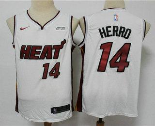 Men's Miami Heat #14 Tyler Herro White 2019 Nike Swingman Stitched NBA Jersey With The Sponsor Logo