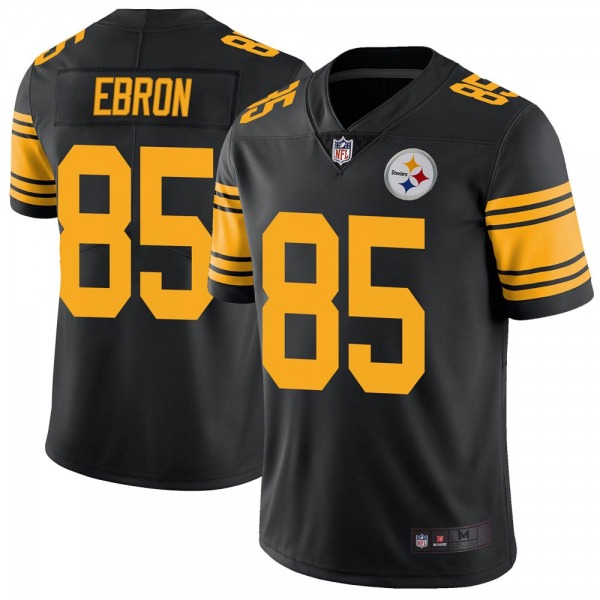 Youth Pittsburgh Steelers #85 Eric Ebron Color Rush Jersey - Black Limited