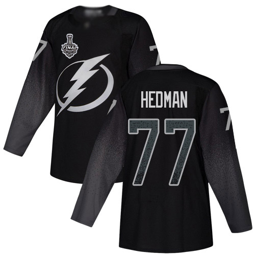 Adidas Lightning #77 Victor Hedman Black Alternate Authentic 2020 Stanley Cup Final Stitched NHL Jersey