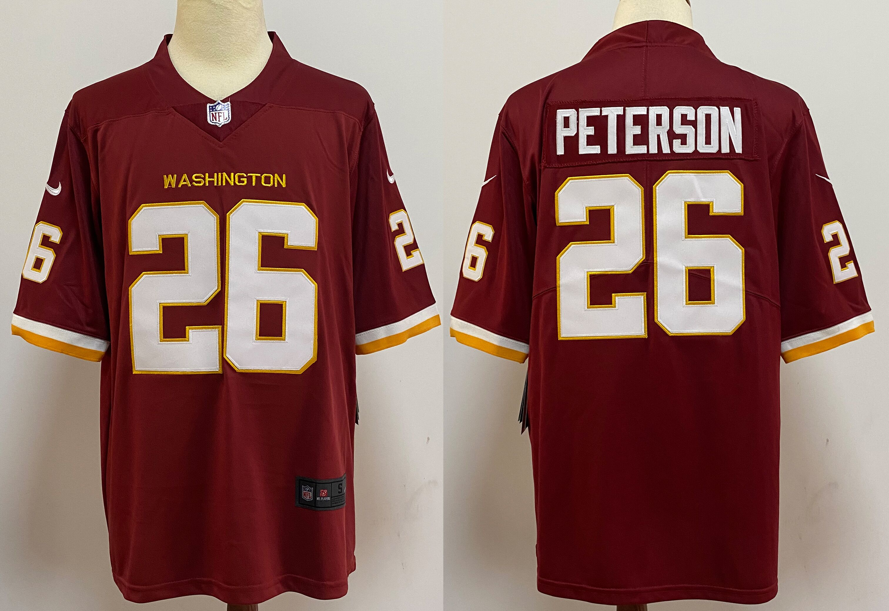 Men's Washington Redskins #26 Adrian Peterson Burgundy Red NEW 2020 Vapor Untouchable Stitched NFL Nike Limited Jersey