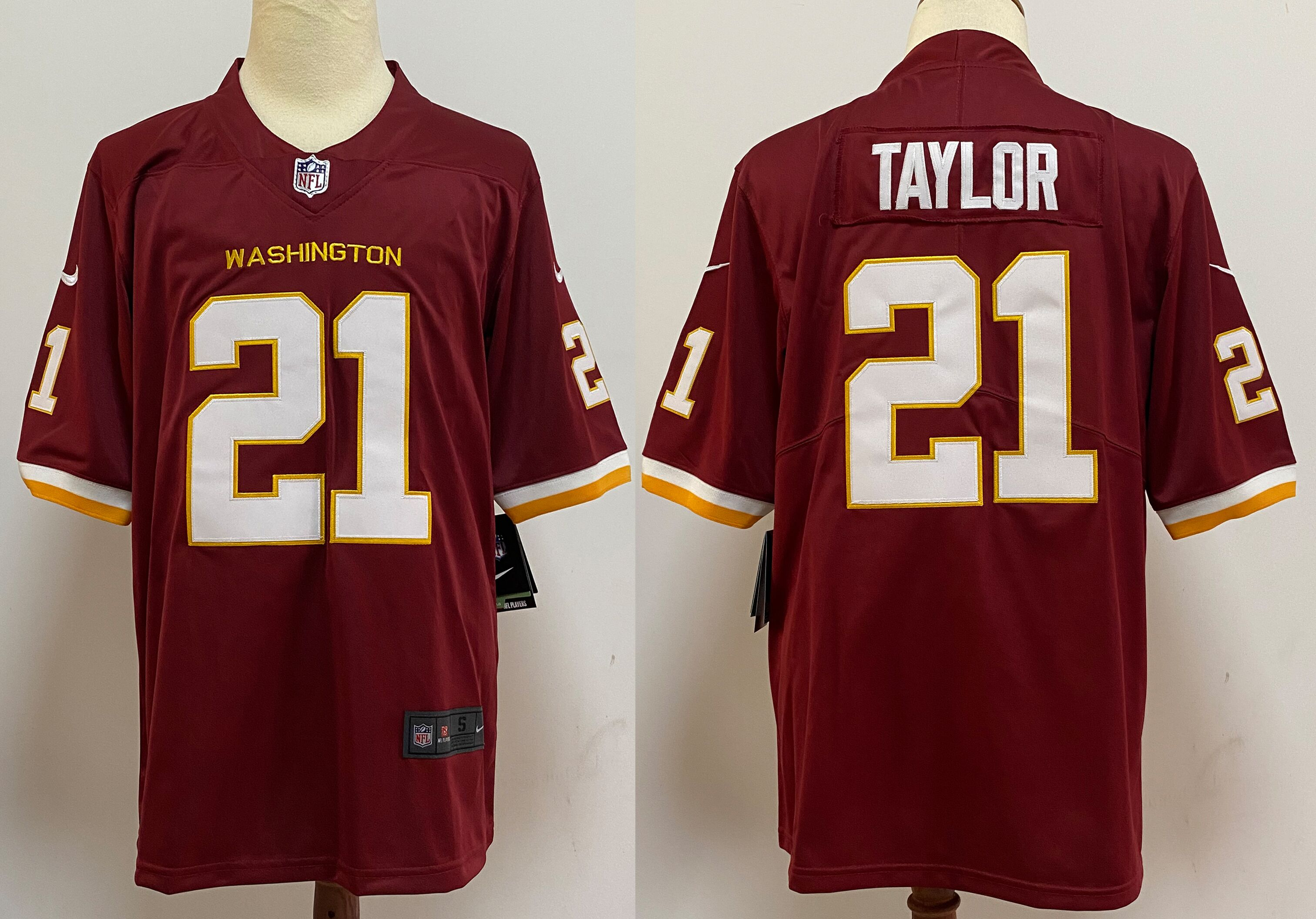 Men's Washington Redskins #21 Sean Taylor Burgundy Red NEW 2020 Vapor Untouchable Stitched NFL Nike Limited Jersey