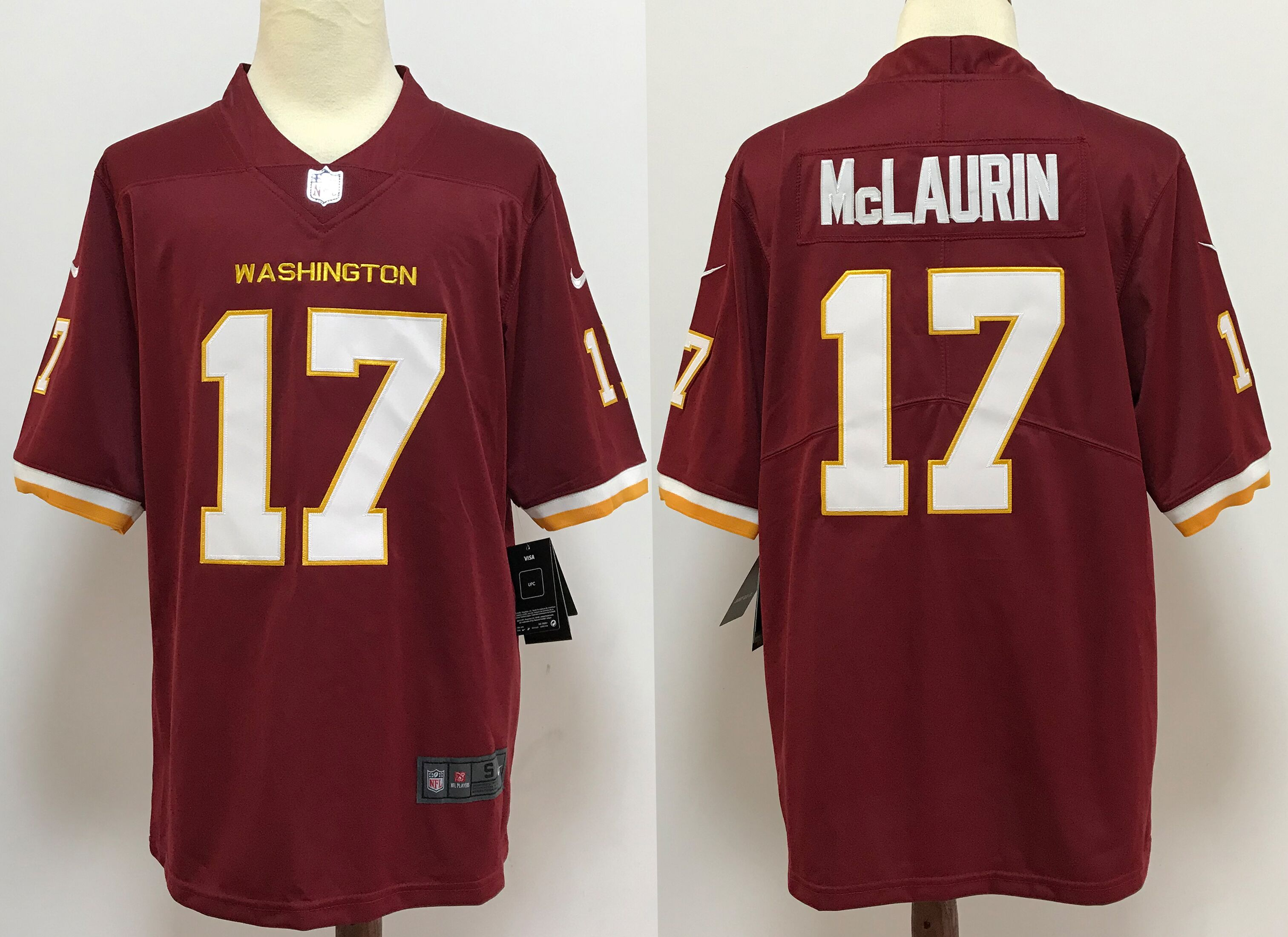 Men's Washington Redskins #17 Terry McLaurin Burgundy Red NEW 2020 Vapor Untouchable Stitched NFL Nike Limited Jersey
