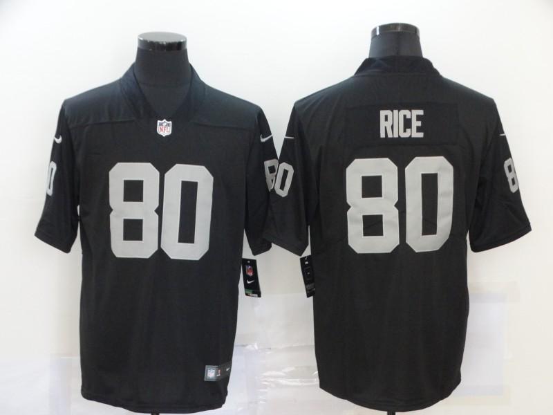 Men's Las Vegas Raiders #80 Jerry Rice Black 2020 Vapor Untouchable Stitched NFL Nike Limited Jersey