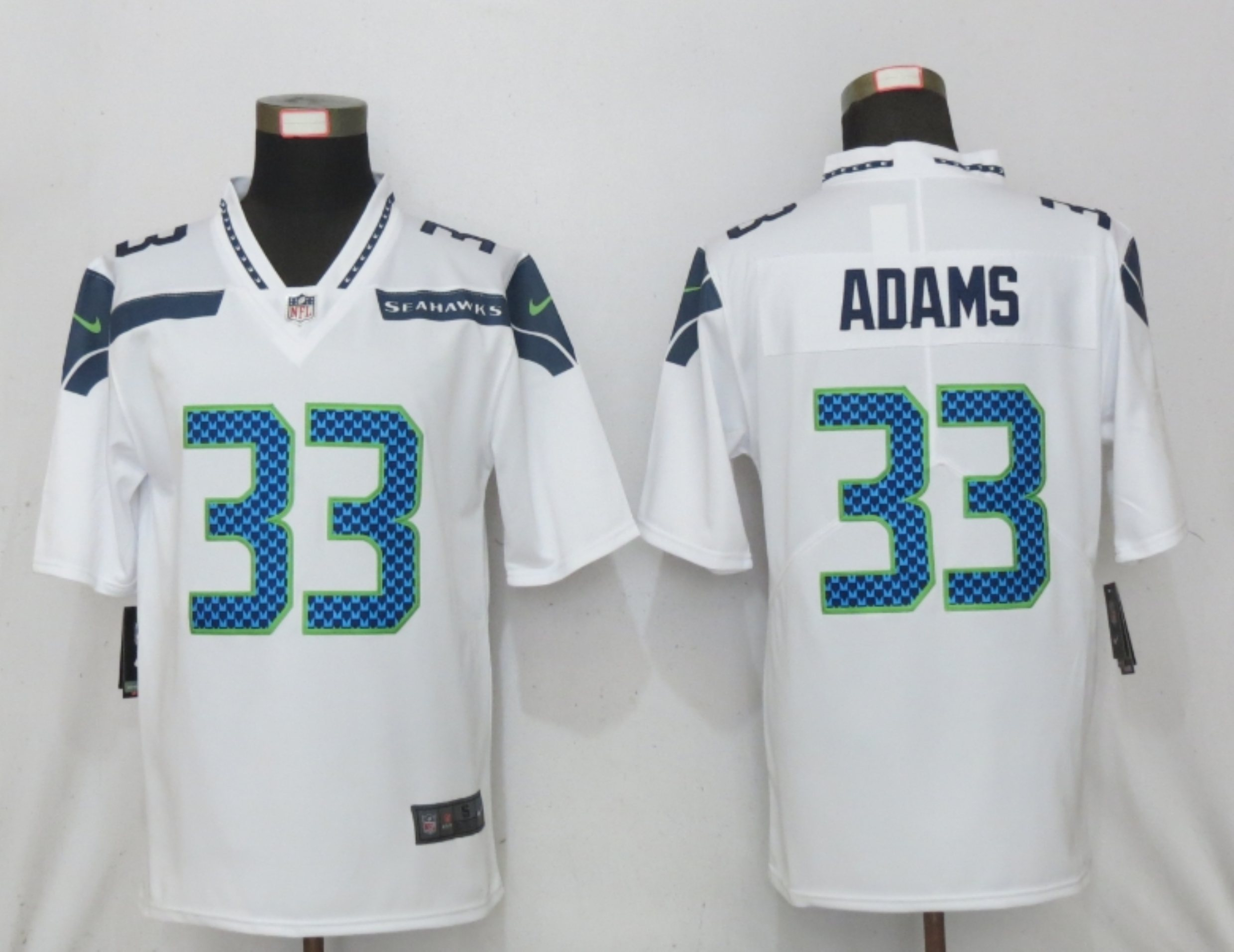 Men's Seattle Seahawks #33 Jamal Adams White 2020 Vapor Untouchable Stitched NFL Nike Limited Jersey