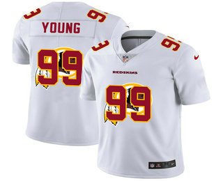 Men's Washington Redskins #99 Chase Young White 2020 Shadow Logo Vapor Untouchable Stitched NFL Nike Limited Jersey