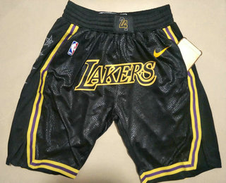 Men's Los Angeles Lakers Black With Lakers 2020 Nike City Edition Stitched Shorts