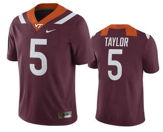Men's Virginia Tech Hokies #5 Tyrod Taylor Maroon College Football Nike Jersey