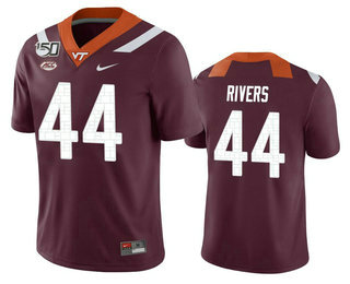 Men's Virginia Tech Hokies #44 Dylan Rivers Maroon 150th College Football Nike Jersey